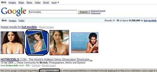 Hot Models SERPs
